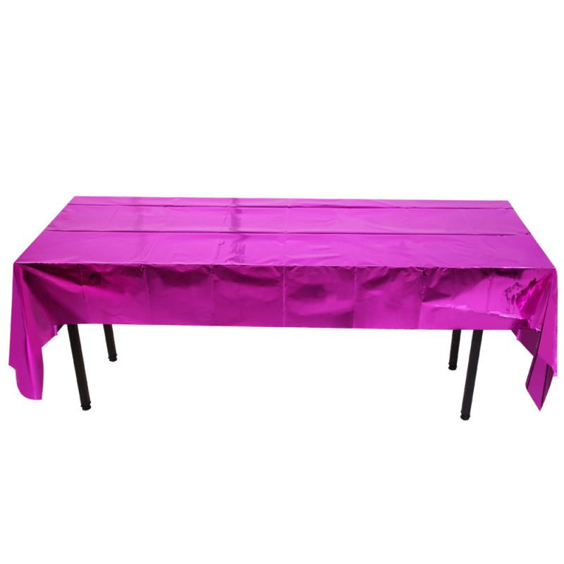 1pc Waterproof Glitter Foil Party Table Cloth Table Cover Rectangular Birthday Tablecloth Wedding Birthday Table Cover*