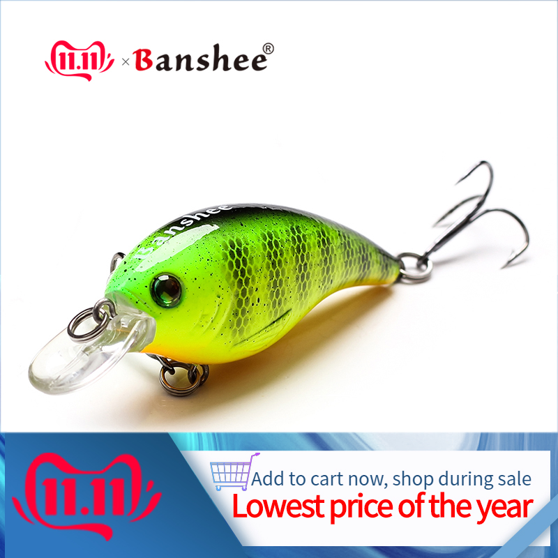 Banshee 60mm 10g Thrill Thunder  Floating Fishing Lure VC01 Rattle Sound Wobbler Artificial Hard Bait Shallow Diving Crankbaits