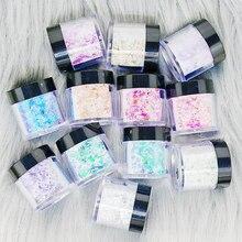 Acrylic-Powder-Set Poudre Ongle Mix-Color Nail-Art Paillette Glitter-Flakes 10g/jar Puder