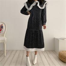 Повседневное платье для женщин воротник с лацканами винтажное