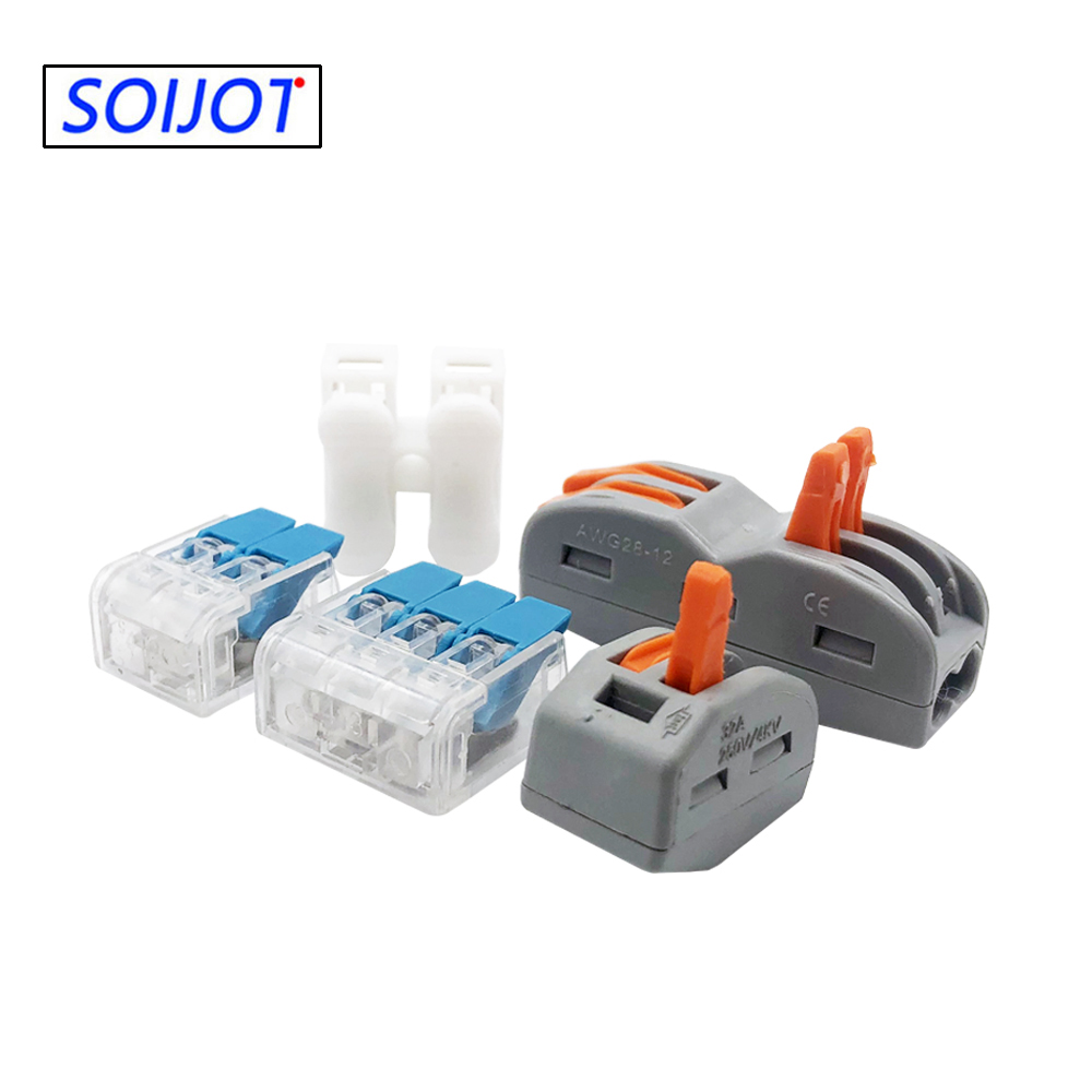 10-100pcs/lot 221 222-412 413 415Mini Fast Wire Connector,Universal Wiring Cable Connectors,Push-In Terminal,Led light Conector