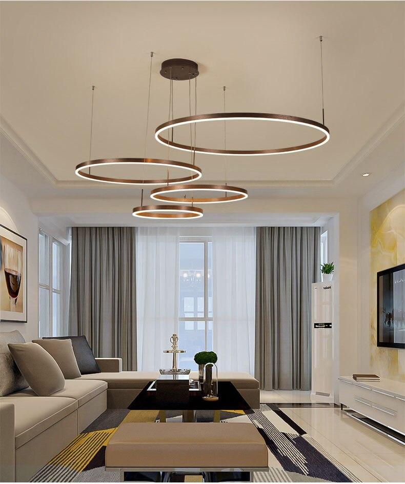 Casa moderna led lustre de teto montado