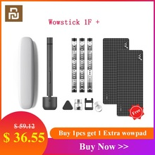 Orijinal Youpin Wowstick 1F + 64 In 1 elektrikli tornavida akülü lityum iyon şarj edilebilir LED güç Mini tornavida seti