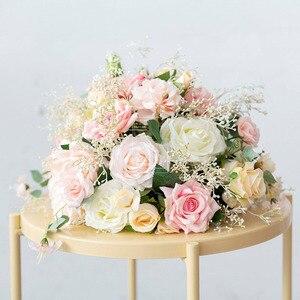 Image 2 - Пользовательские свадебные арки Декор цветочный композиция стол цветочный шар центральные Цветочные Вечерние сцены на открытом воздухе компоновка цветка стены