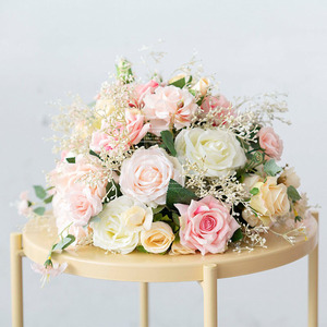 Image 2 - Custom Wedding arch decor flower arrangement table flower ball centerpieces  floral party stage outdoor scene layout flower wall