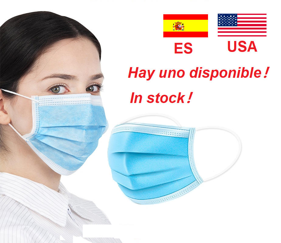 Face Mask 마스크 Protective Mask Anti Novel  3 Layer Disposable Mouth Masks Anti Dust Mask Respirator Hygiene Mask Fast Shipping