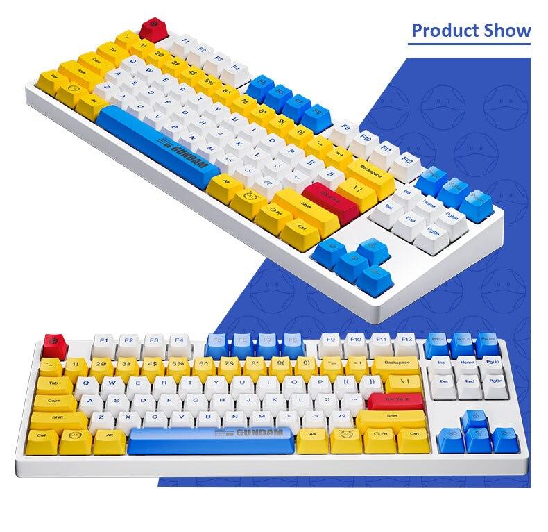 Original ikbc gundam 2.4ghz teclado mecânico sem