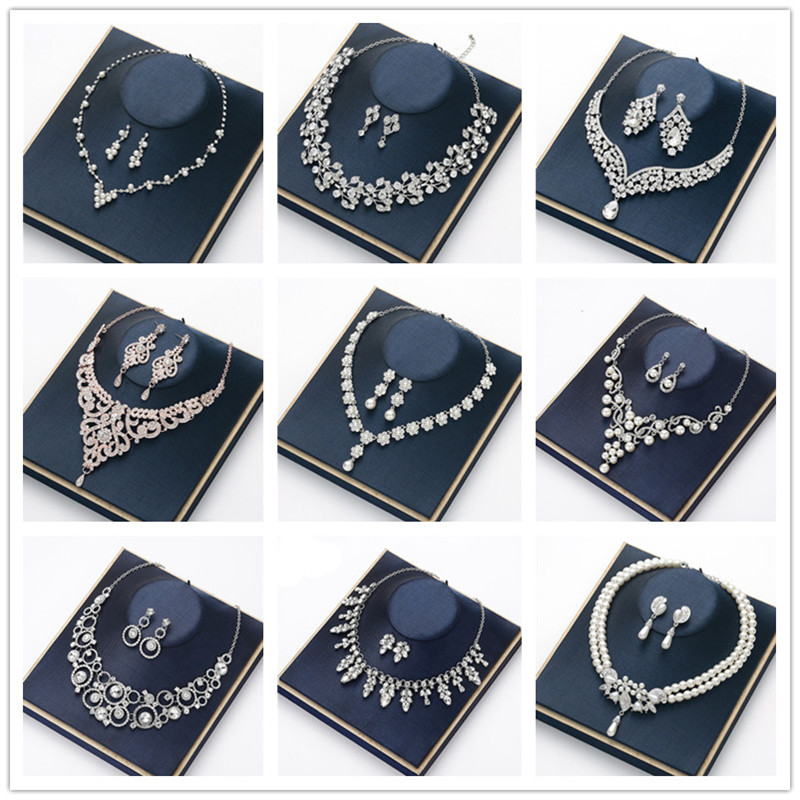 CC Jewelry Necklace Stud Earrings Pendant Wedding Accessories For Women Jewellry Letter Long Gold Necklaces CZ Stone Bijoux