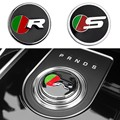 1 шт ручка переключения рулевого механизма автомобиля внутренняя отделка эмблема наклейка для Jaguar F-PACE XE XF XJ XFL стайлинга автомобилей Modificaiton ...