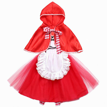 Little Red Riding hood dress costume for toddlers and girls cosplay princess halloween clothing