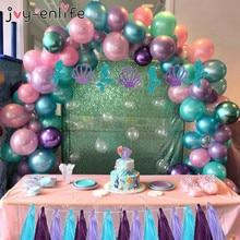 DIY Balloons Arch Kit Little mermaid Birthday Party Decoration girl Balloon Column Frame Stand Base Mermaid Baloons Supply
