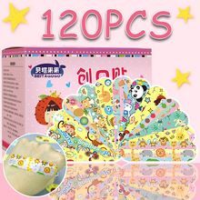 New 120PCS Waterproof Breathable Cartoon Band Aid Hemostasis Plasters Emergency Adhesive Bandages For Kids