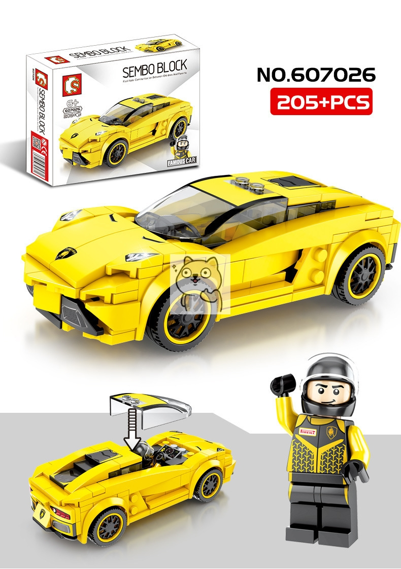 Детские сборные игрушки знаменитый автомобиль супер бегущий гоночный маленькие частицы Волшебные блоки для сборки конструктор-головоломка