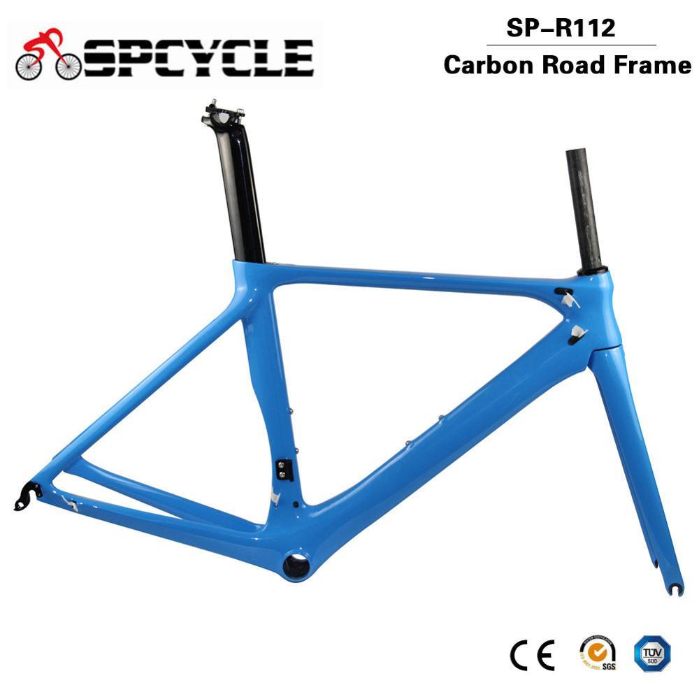 Spcycle 700C Aero Carbon Road Bike Frame T1000 Carbon Road Bicycle Frame DI2 & Machinery Racing Bicycle Carbon Frameset BB86