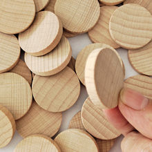 10-50mm de madeira de faia de madeira redonda chips de madeira diy artesanato de madeira qualidade chips de madeira
