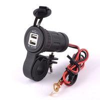 12 v/24 v 3.1a porta dupla carregador de carro usb tomada de energia para ipad iphone telefones celulares do carro led para a motocicleta do carro|Acessórios eletrônicos p/ moto| |  -