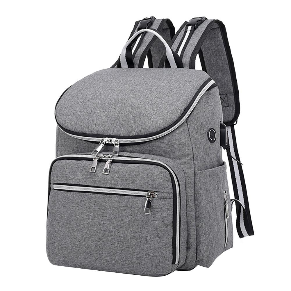 Уличная однотонная сумка для детского питания для кормления с разъемом для наушников, рюкзак для путешествий с несколькими карманами