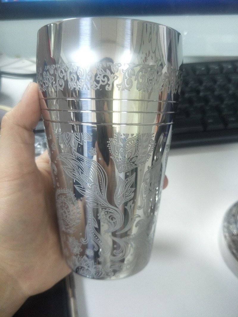 2019 New Cocktail Engraved Shaker