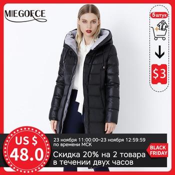 MIEGOFCE – Veste d'hiver à capuche chaude de haute qualité pour femme, peluches, manteau parka bio, nouvelle collection hiver 2020 1