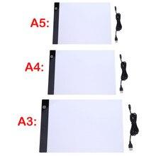A3 A4/A5 dimensioni tre livelli dimmerabili Led Light Pad,Tablet protezione degli occhi più facile per la pittura diamante accessori per strumenti di ricamo