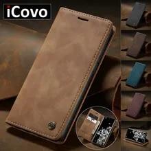 Matte Leather Flip Cover for Samsung A71 A51 A70 A50 A40 A30 A20 A10 Wallet Case S21