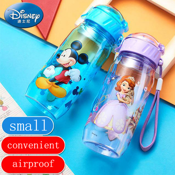 450ml Disney Cartoon Children Plastic Straw Drinking Cup Learning Water Bottle Student Portable Straight Bottle Kettle Leakproof baby feeding water bottle portable no spill cup my plastic bottle children s small kettle with straw food grade slide cover copo