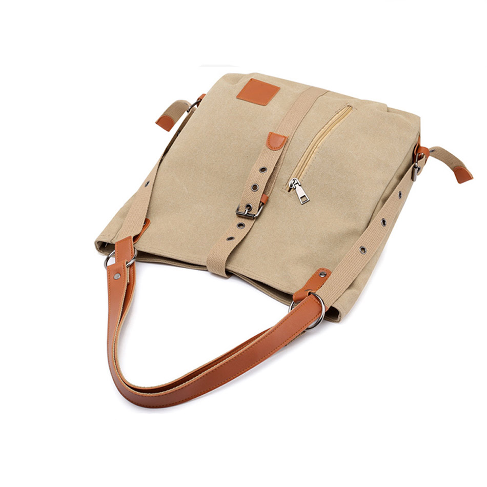 Canvas Women Shoulder Bags High Quality Multifunction Women Back Pack For Students School Travel Bags Large Capacity 5