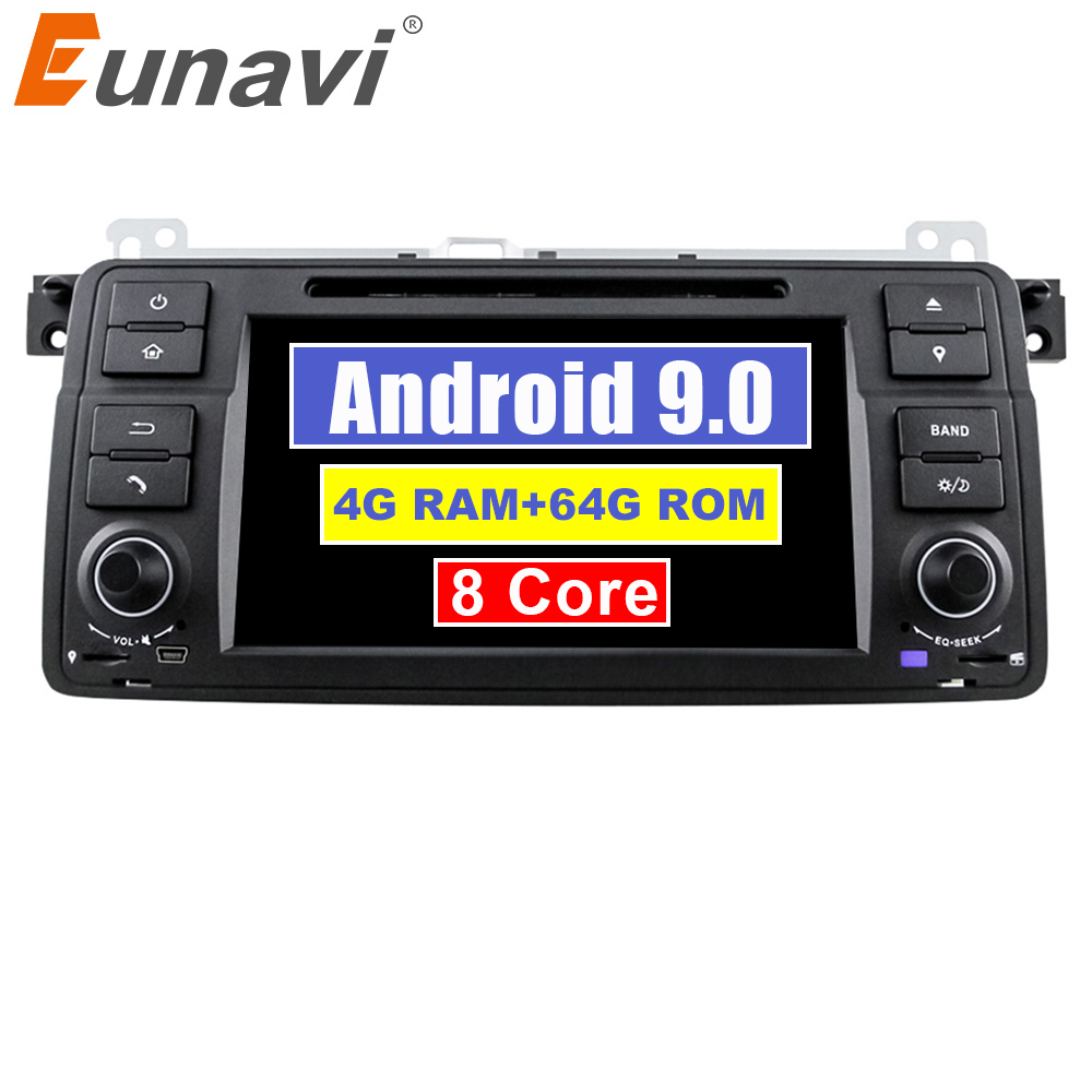 Eunavi 1 Din Android 9 Car Multimedia player For BMW E46 M3 318/320/325/330/335 Rover 75 1998-2006 Auto DVD Radio GPS DSP 4G 64G image