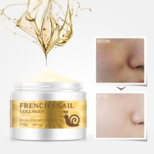 Snail Face Cream Hyaluronic Acid Moisturizing Anti Wrinkle Aging Collagen Repairing Day Skin Care