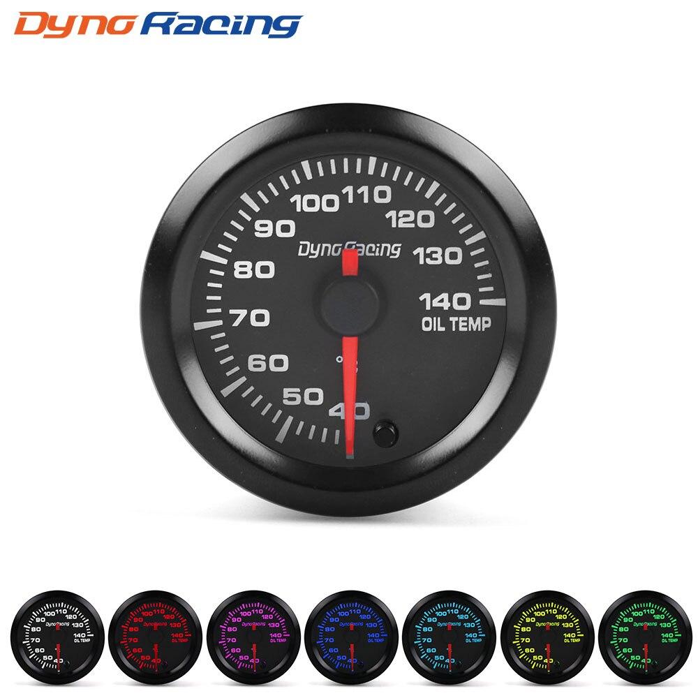 """Dynoracing """" 52 мм 7 видов цветов, высокая скорость, автомобильный наддув, температура воды, температура масла, масло, пресс, воздух, топливо, соотношение вольтметр, EGT, тахометр, Датчик Оборотов - Цвет: Oil temp gauge"""