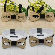 2020 мода ретро старинные мужская деревянная галстук аксессуар свадебный подарок Bamboo деревянные полые дизайн галстук-бабочка для мужчин Бизнес