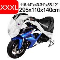 295x110x140cm Black Silver 190T Waterproof Rain Dust UV Outdoor Indoor Motorcycle Cover Coat For BMW