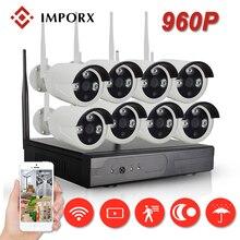 IMPORX 1.3MP 960P CCTV System 6ch Wireless NVR kit 2TB HDD Outdoor IR Night Vision IP Wifi Camera Security System Surveillance