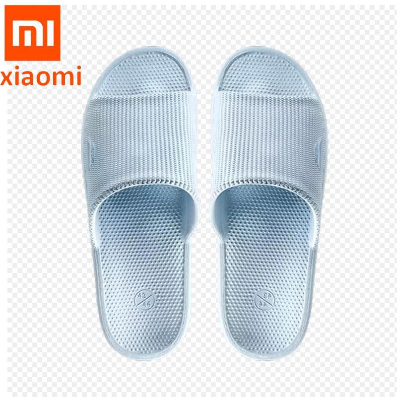 Original Xiaomi ecological bathroom non-slip light slippers Home indoors shoes soft EVA wear-resistant waterproof shower slipper(China)