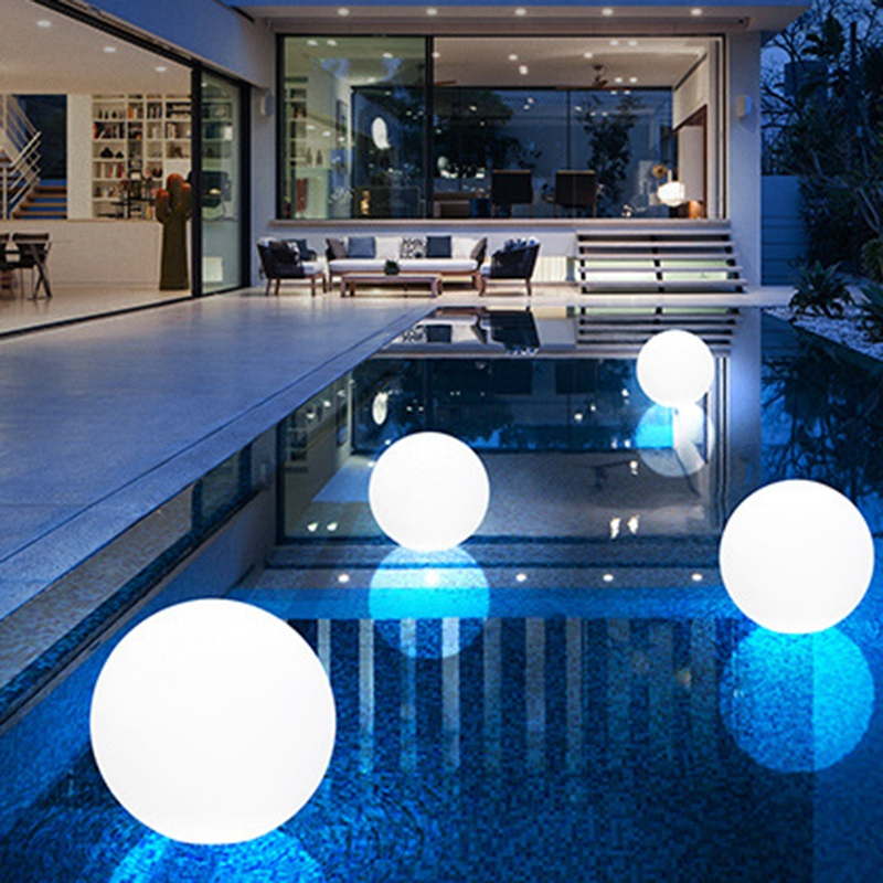 New Colorful Outdoor Garden Glowing Ball Lights with Remote Patio Landscape Pathway LED Illuminated Ball Table Lawn Lamps 25Cm