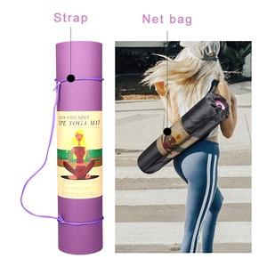 Image 5 - 6mm Yoga Mat 183*61cm No slip TPE Sports Gym Mat Fitness Esterilla Pilates Gymnastics Camping Colchonete Pad With Bag Bandage