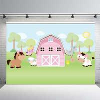 Fondos de fotografía luz Rosa granja cabaña granero corral jardín animales vaca caballo personalizado foto estudio fondo