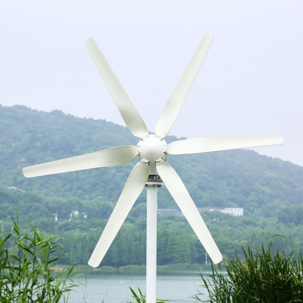 400W Wind Turbine Power Generator with 3/5/6pcs Blades CE ROHS ISO9001 approved Factory price