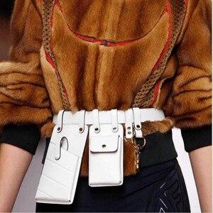 Women Waist Bag Fashion Leather Waist Belt Bag Crossbody Chest Bags Girl Fanny Pack Small Phone Pack shoulder strap Packs A1234