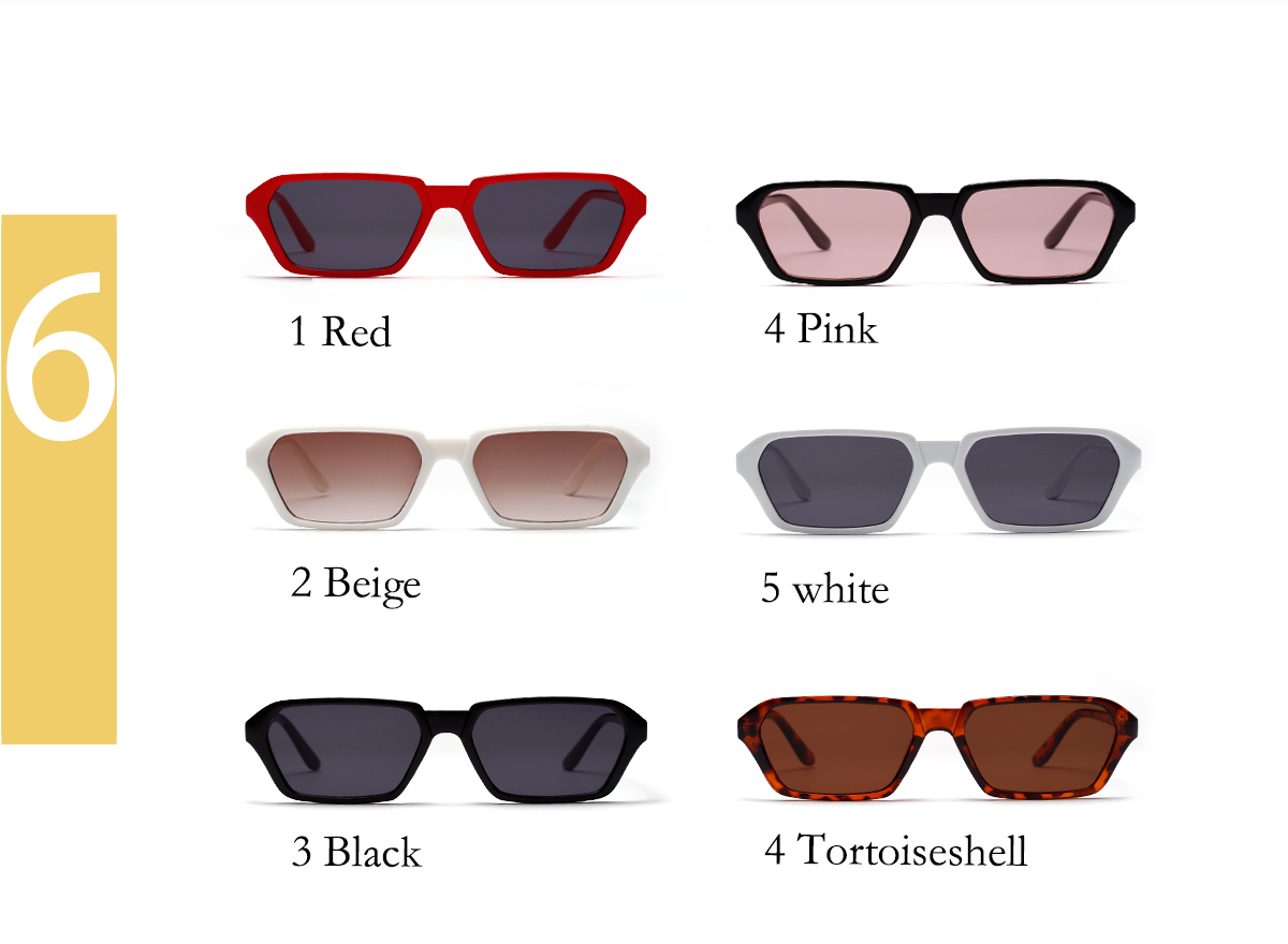 Cheap plastic small square shape glasses uv400 sunglasses men women