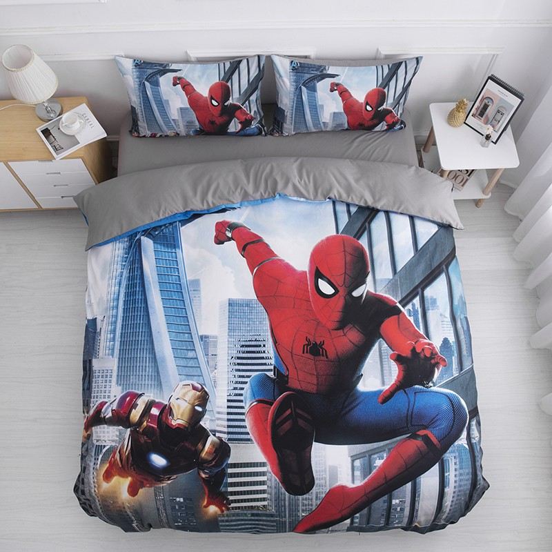 Disney Avengers Iron Man Spiderman Baby Bedding Set Duvet Cover Pillowcases For Boys Children Twin Bedclothes Birthday Gift 2020