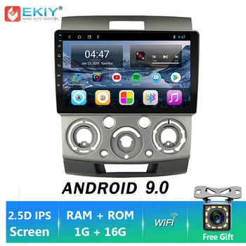 EKIY IPS 2Din Android 9 Car Radio WIFI GPS Navigation 1G+16G For Ford Everest Ranger 2006-2010Car Stereo Multimedia Radio Player image