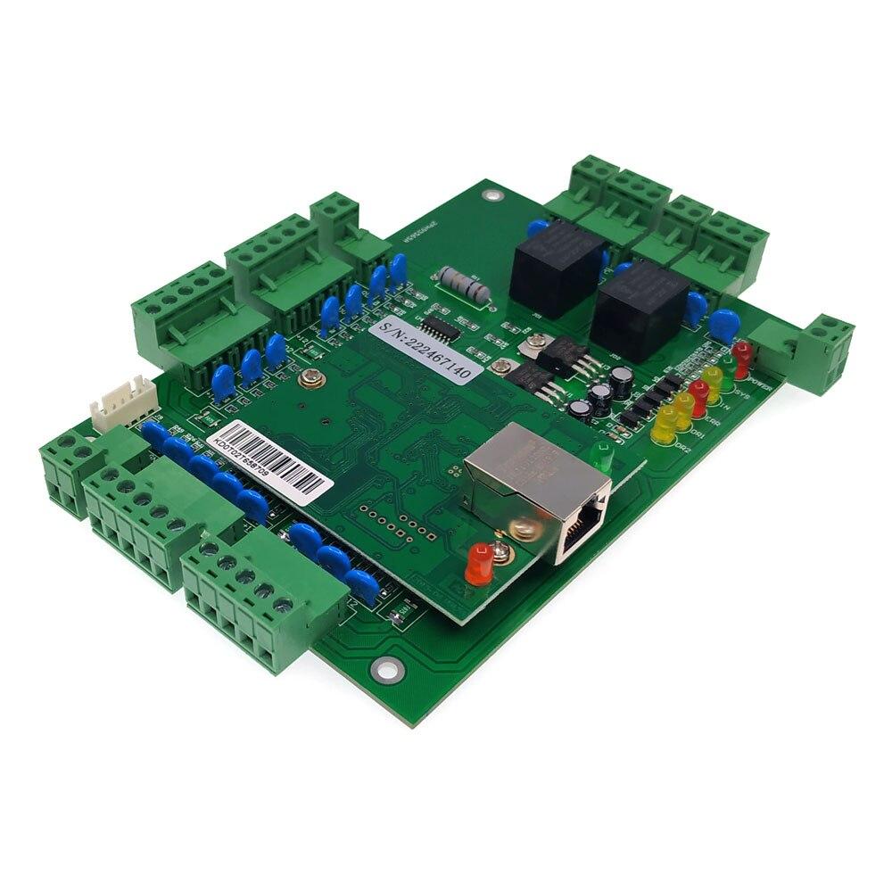 Güvenlik ve Koruma'ten Erişim Kontrol Kitleri'de Tcp/ip iki kapı erişim kontrol panosu bağlanabilir iki yönlü wiegand 26/34 okuyucu ve iki çıkış düğmesi  T02 title=