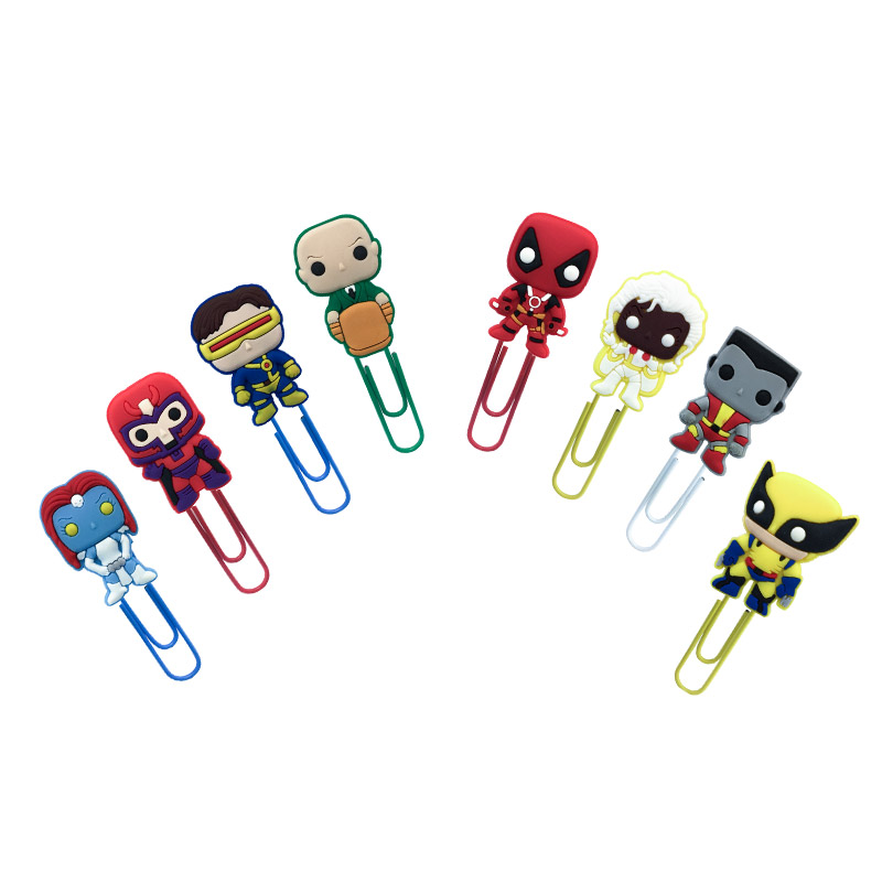 50Pcs Hot Sale Deadpool  Bookmark Metal Clips Page Holder For Teacher Students Paper Clip School Supplies Decoration For Gifts X