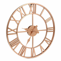 40CM Modern Large Wall Clock Home Decor Art Giant Wall Clock Face Metal Skeleton Wall Clocks Watch With Roman Numerals Big Clock