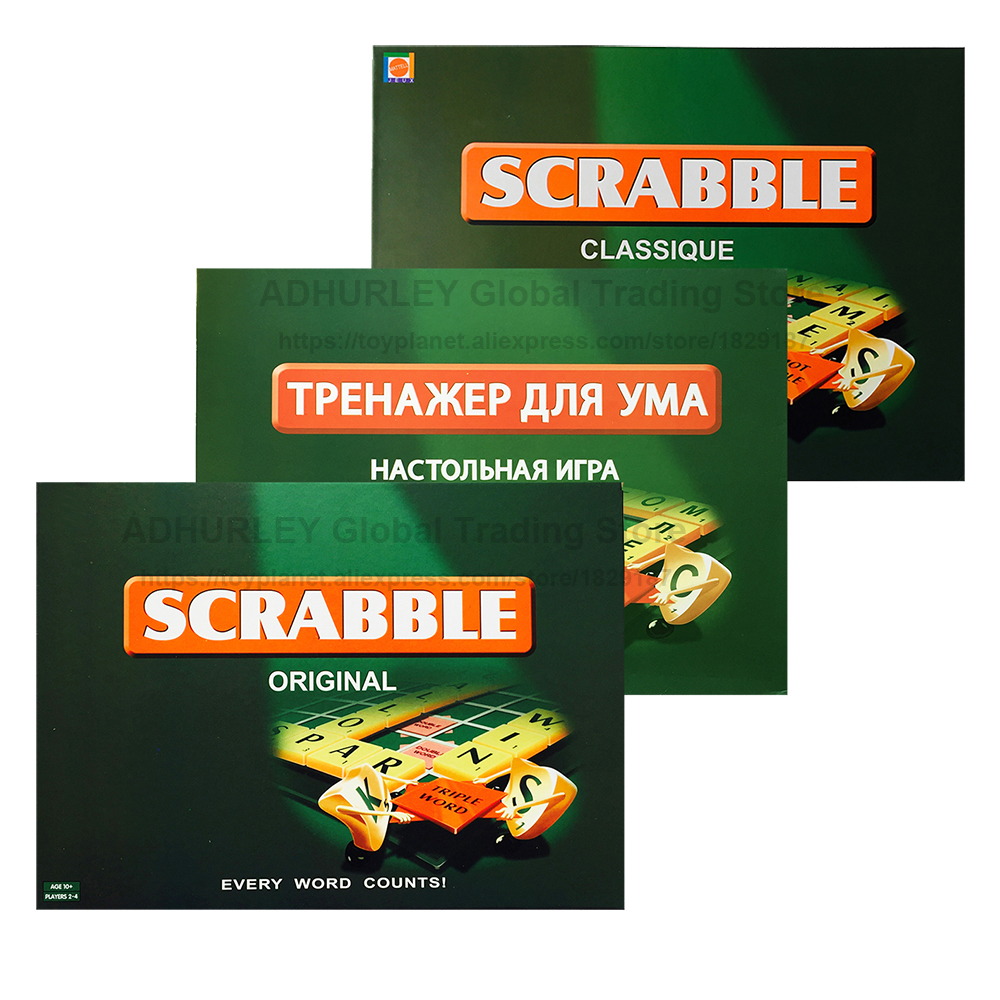 Scrabble Board Games Children&Parents Board Game Russian/English/French Learning Toys Set
