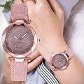 Женская обувь в Корейском стиле Стразы розовое золото кварцевые часы женские роскошные часы с поясом в стиле