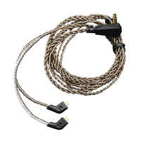 Newest Original KZ Cable Upgrade Silver Plated OFC Cable 0.75mm For KZ Earphones ZST/ZS5/ZS3/ED12/ZS6/ZS4/ZSA/ED16/AS10/BA10/ZSR