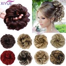 Hair-Bun Fake-Hair Messy Curly XIYUE Chignon Clip-In Women for Wedding