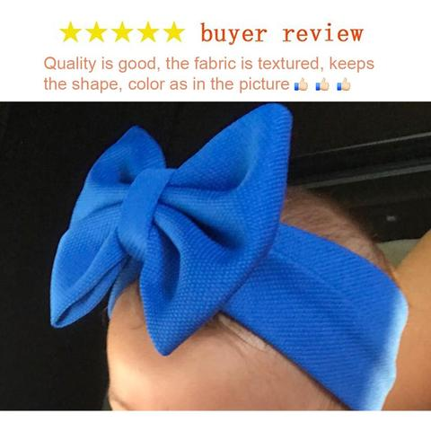 2020 New 5 Hair Bows Headband For Girls Chic Solid Spring Hairband Hair Ties For Kids DIY Girls Hair Accessories Headwear Lahore